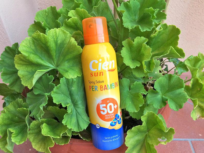 solari Cien Sun Lidl spray bambini 50+