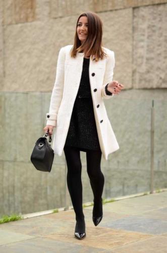 outfit natalizio cappotto bianco