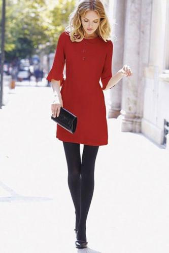 outfit natalizio rosso