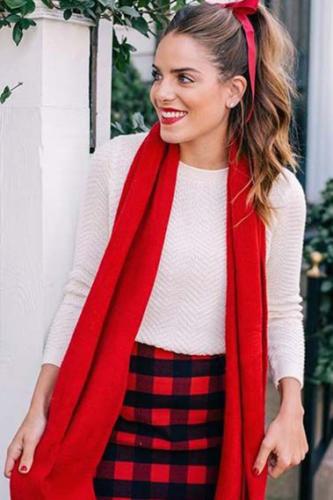 outfit natalizio tartan